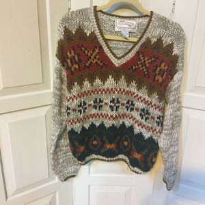 Nuggets Multicolor Pullover Sweater Med